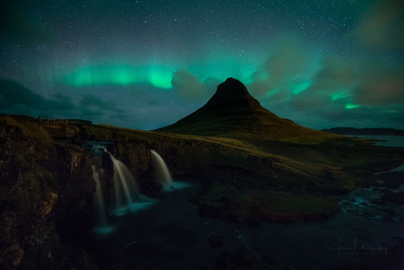 Kirkjufell with northern lights