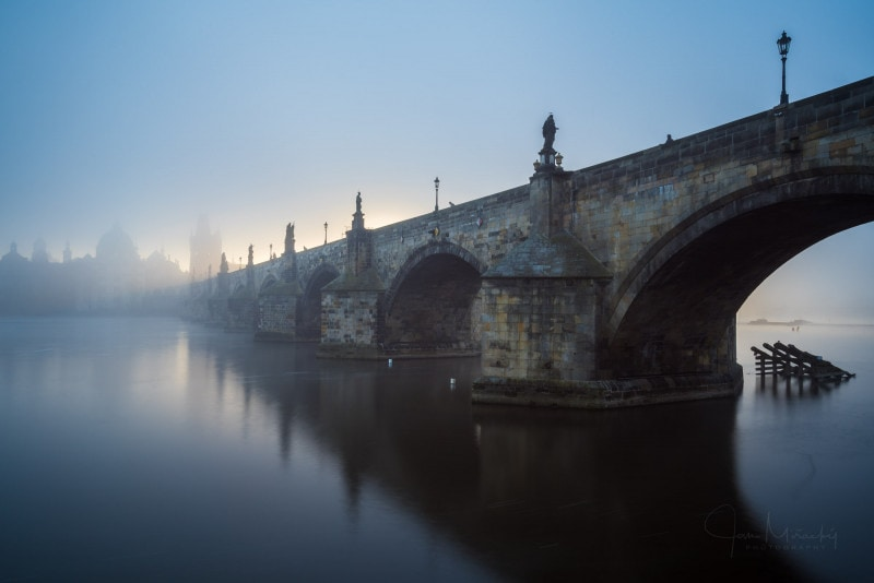 Cold morning at Charles bridge
