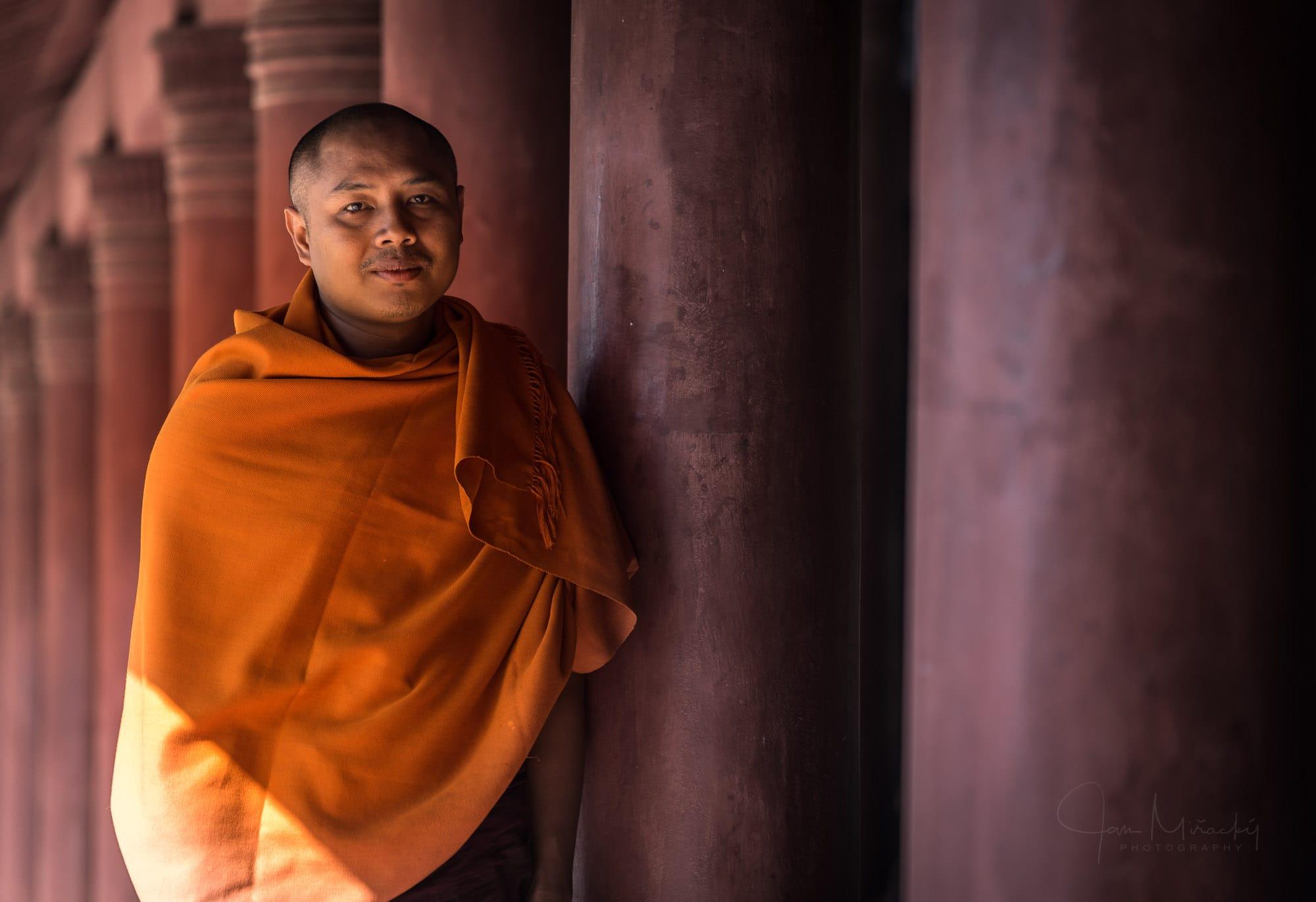 Monk at Royal Palace in Mandalay