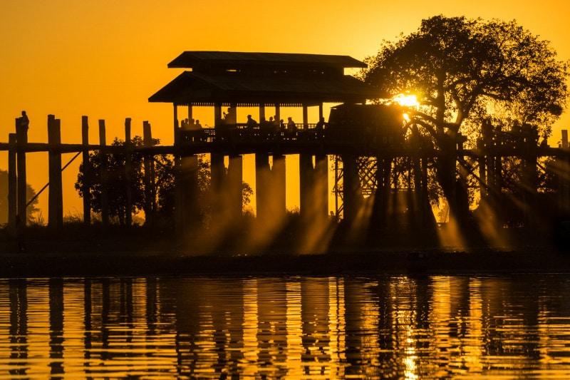 Sunset at U-Bein bridge