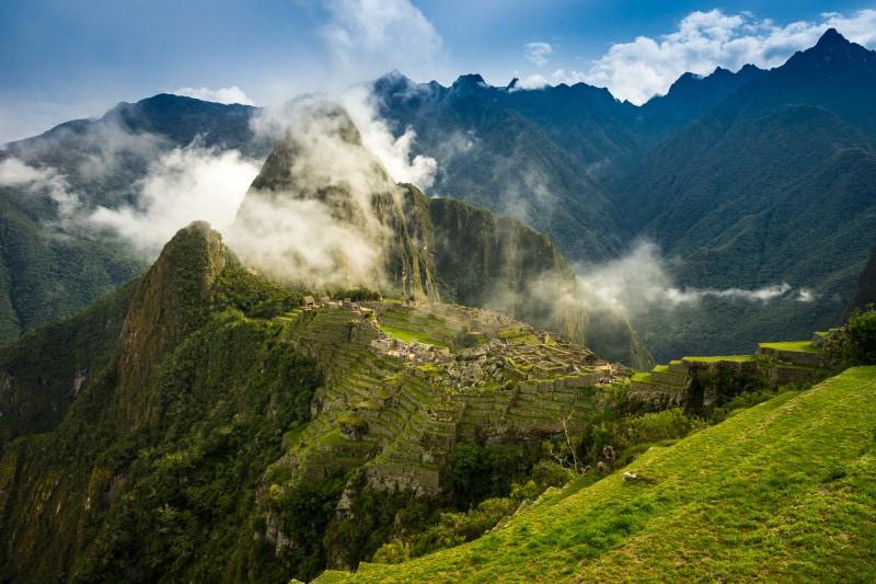 Hazy Machu Picchu