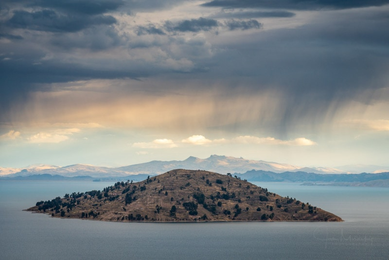 Island at Titicaca Lake