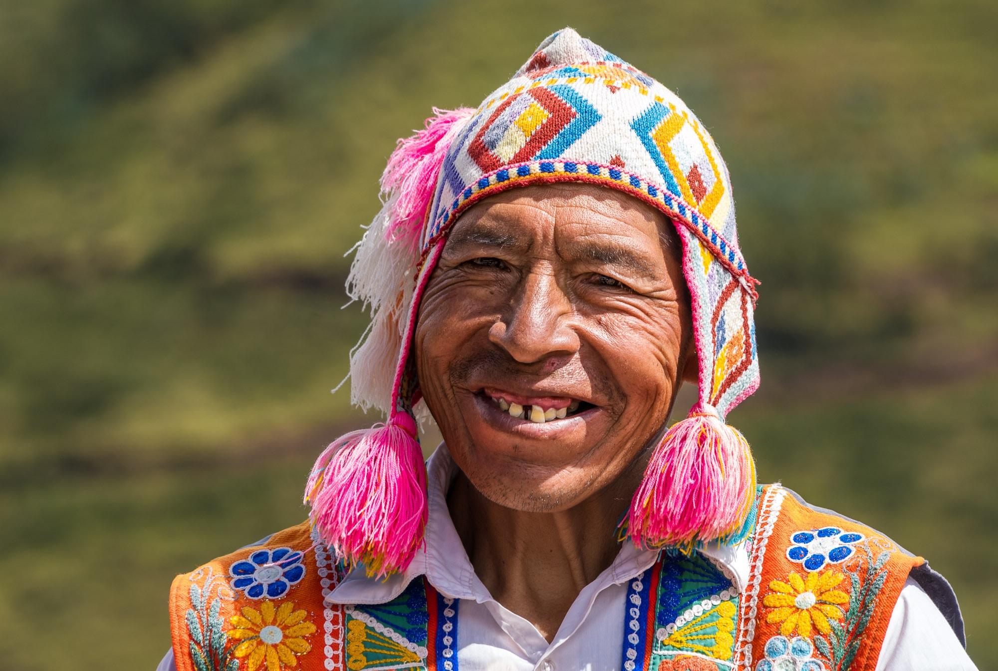Peruvian man smiling