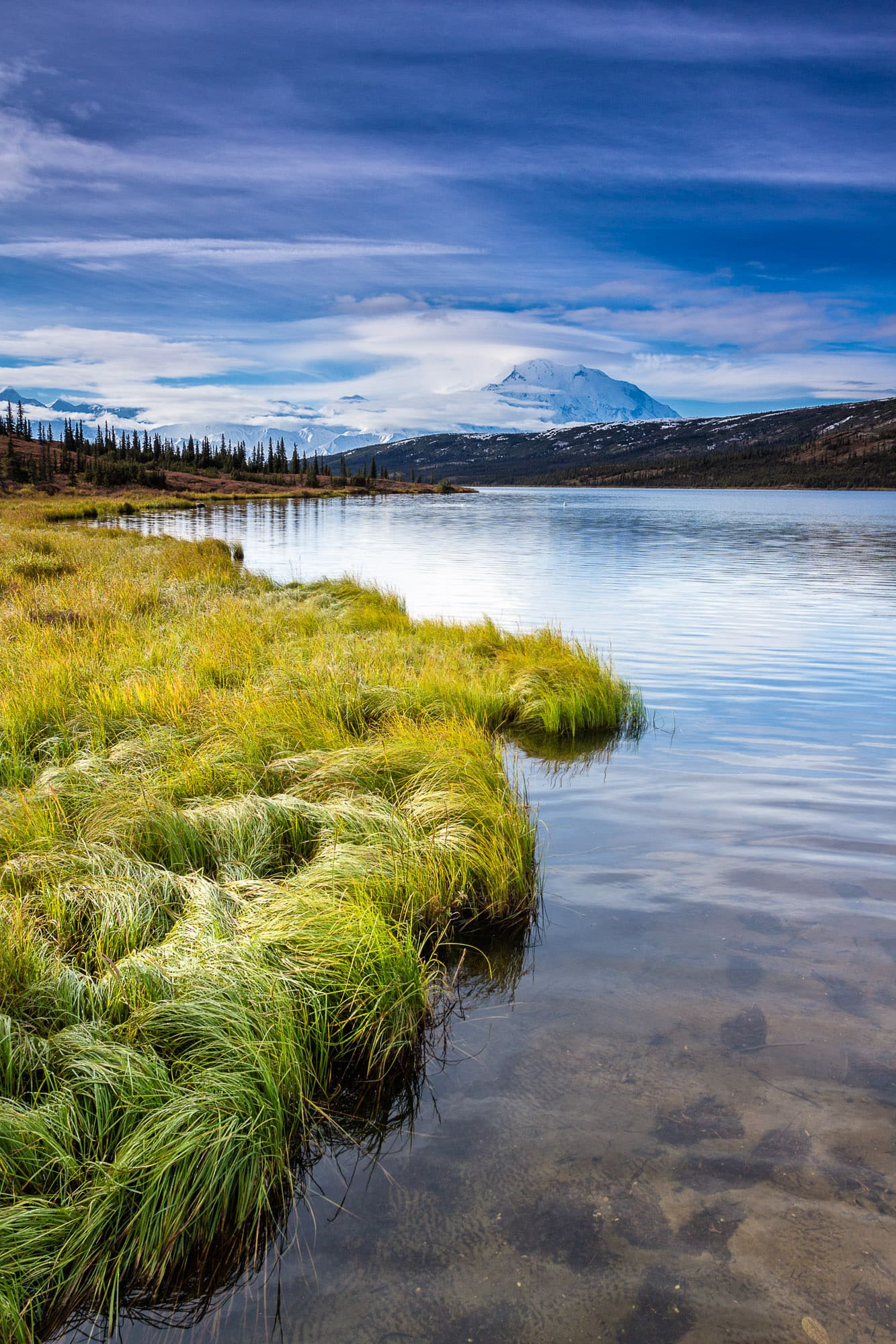 Mount McKinley taken from Wonder Lake, Alaska