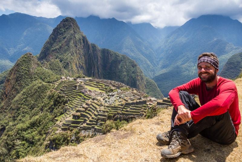 Jan at Machu Picchu in Peru