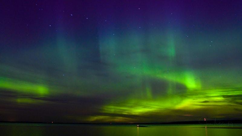 Aurora borealis in Tampere