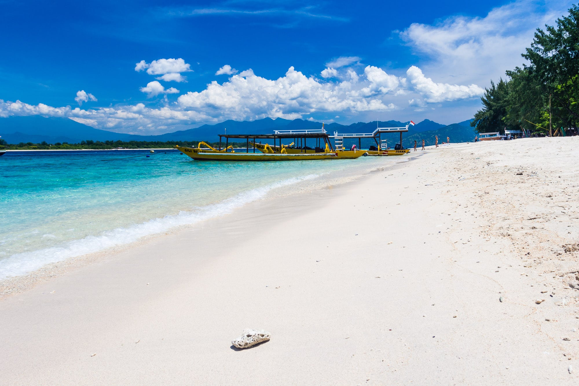 Beach on Gili Trawangan island