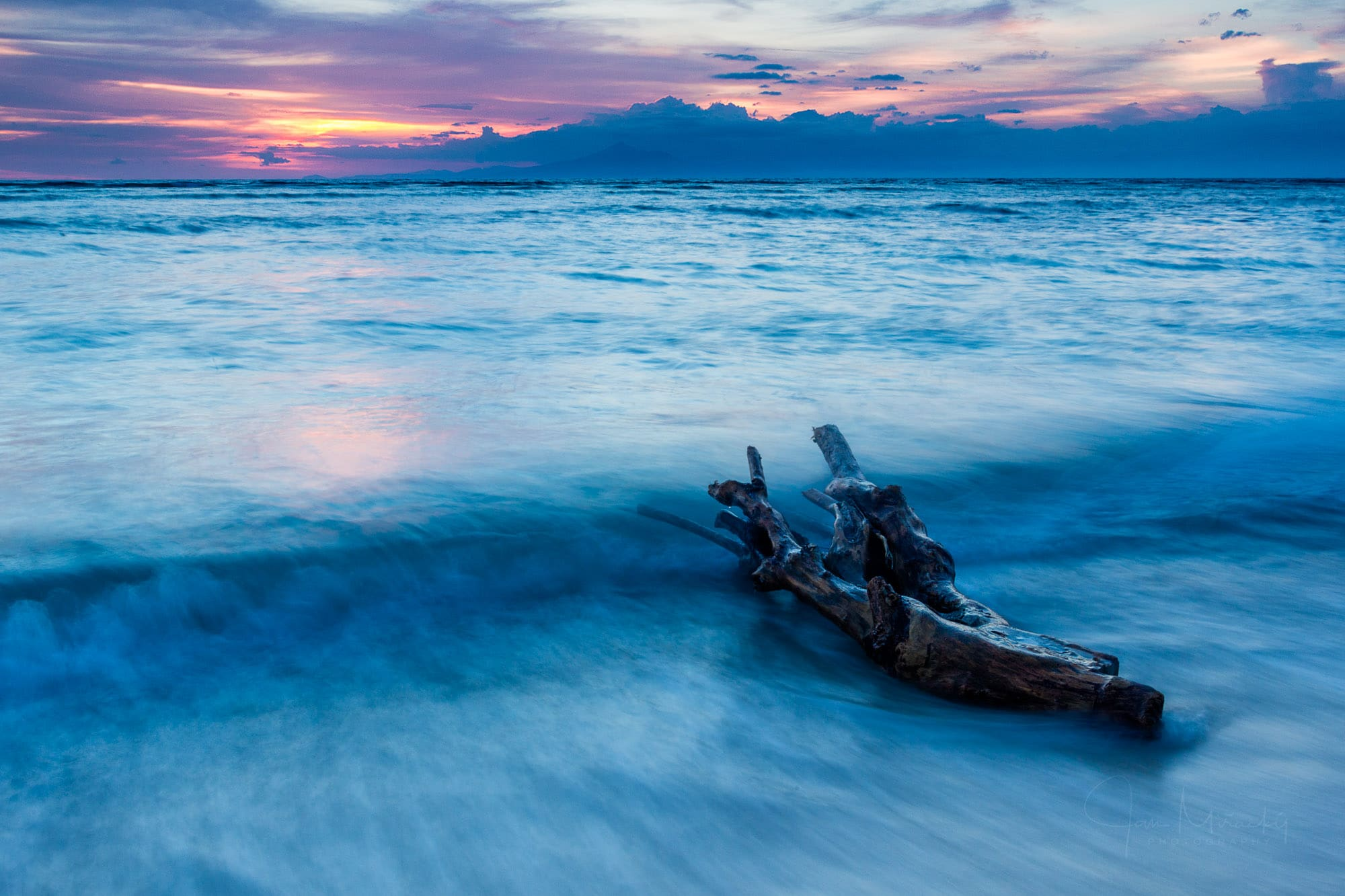 Seascape at Gili Trawangan at sunset