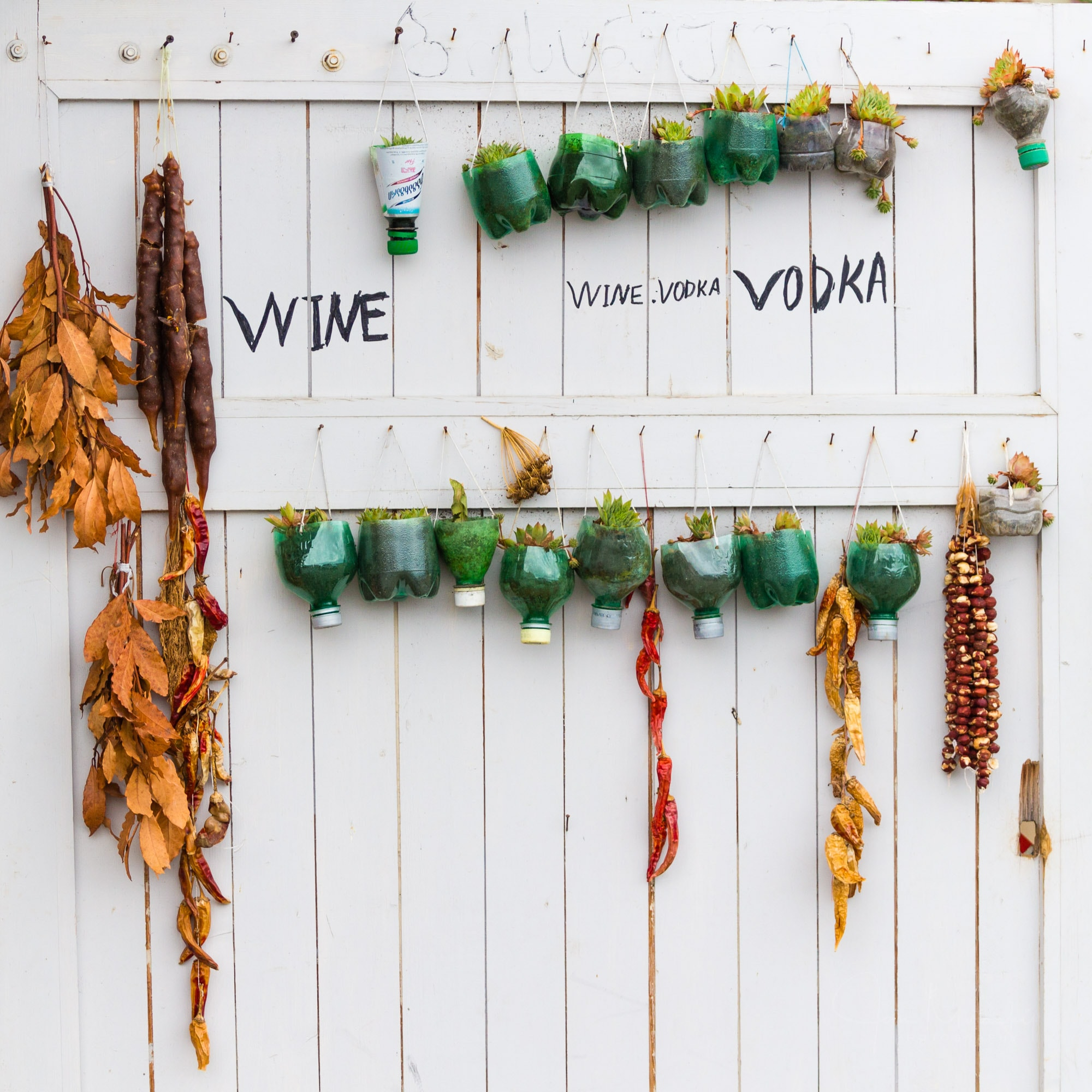 Wine and vodka wall decoration
