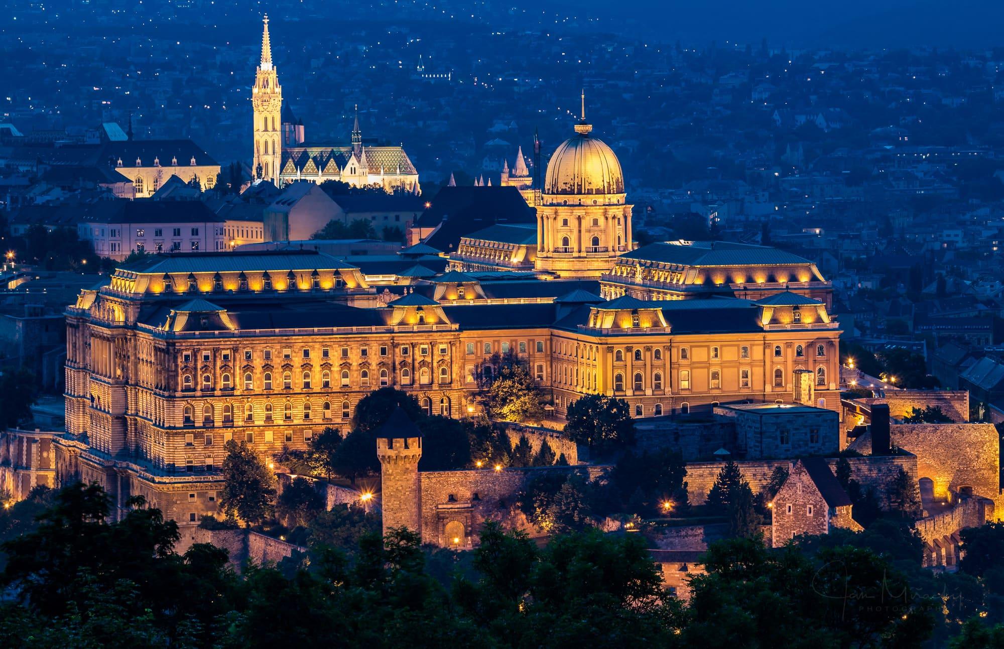 Buda castle at twilight
