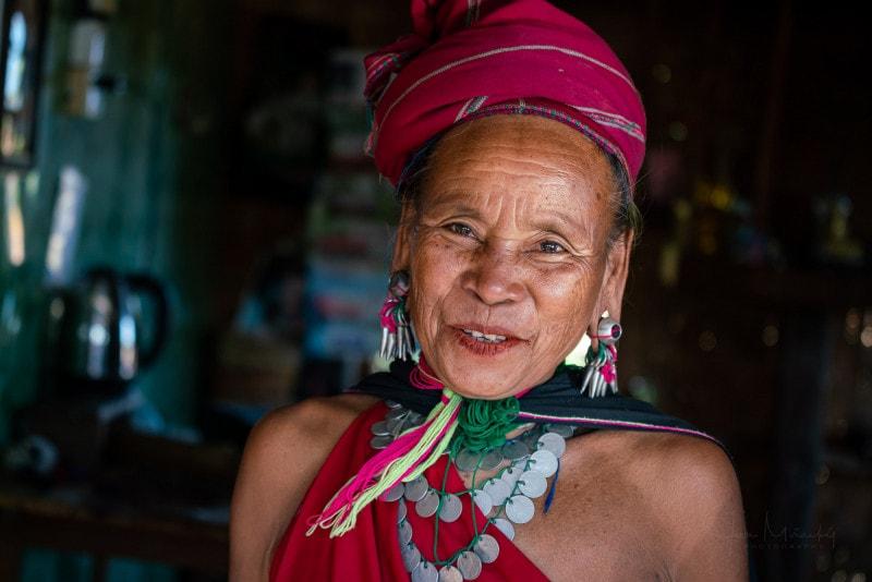 Woman from Kayah tribe, Kayah state, Myanmar
