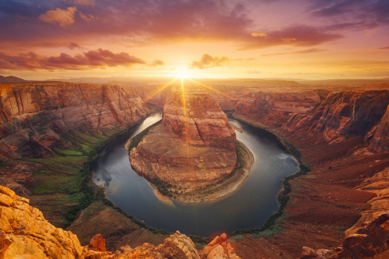 Horseshoe Bend at sunset