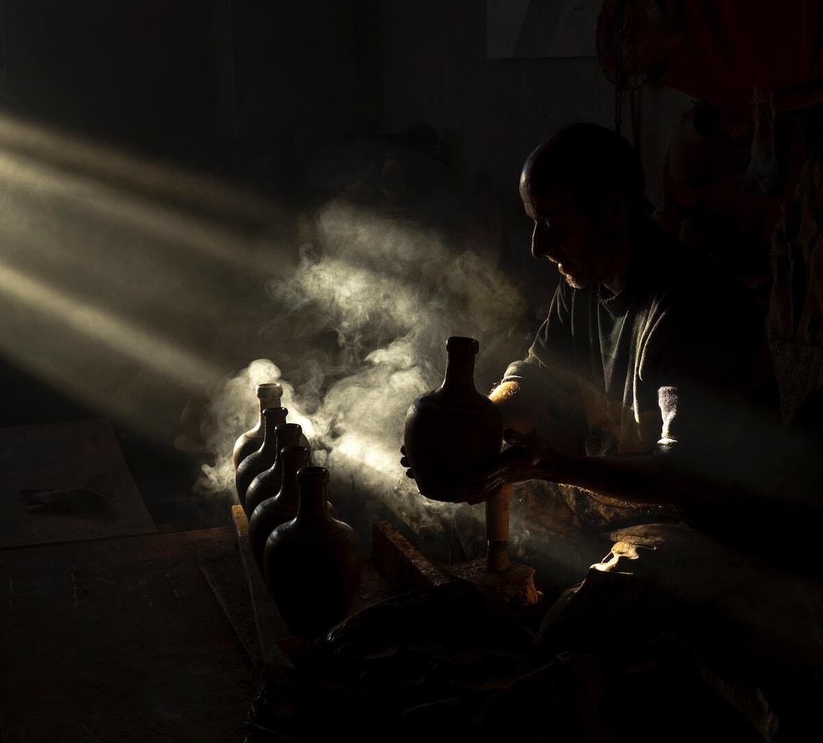 Master of pottery in Cappadocia