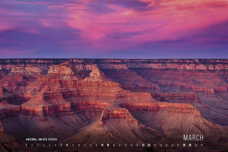 Calendar 2020 by Jan Miracky - March