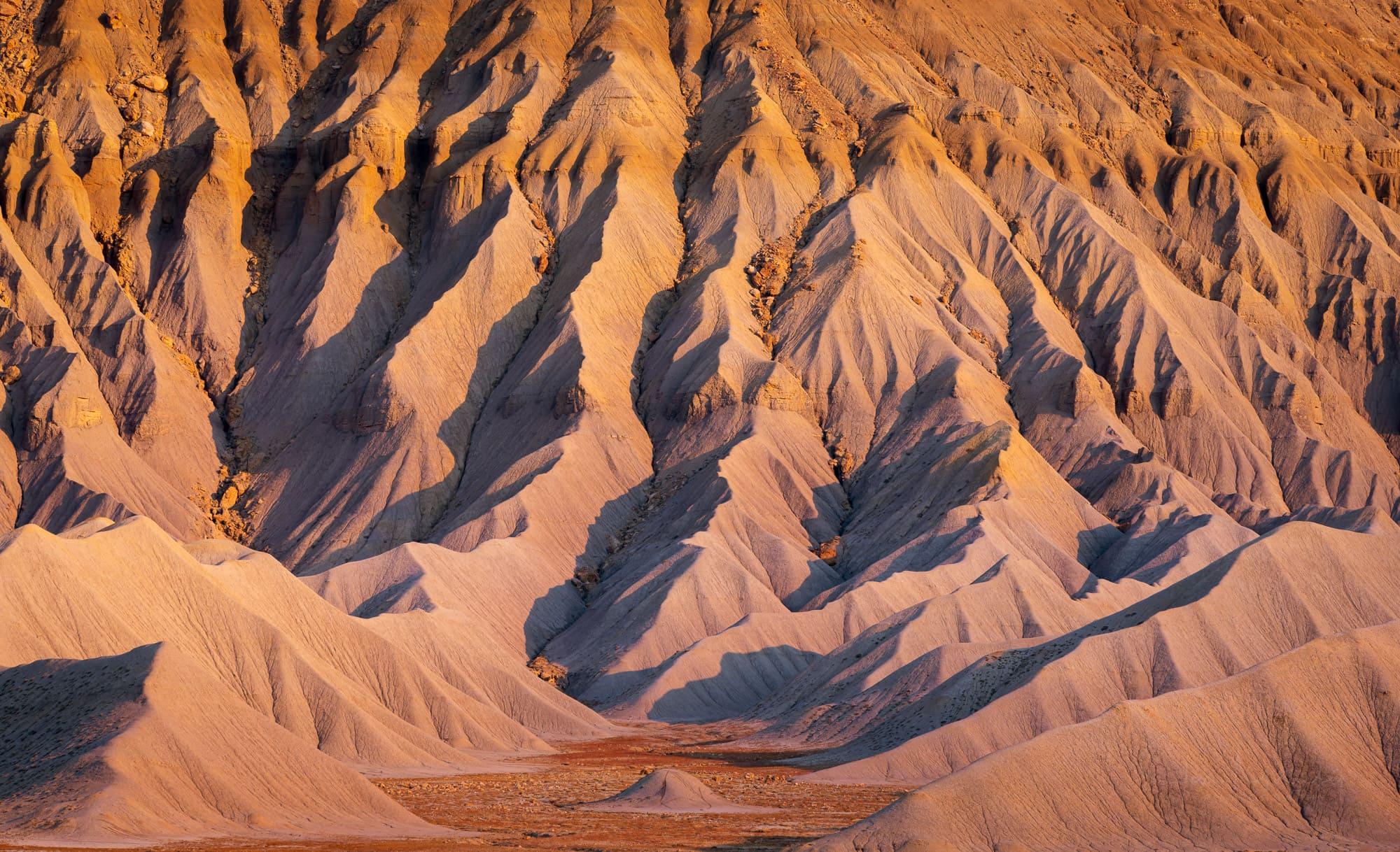 Detail of badlands of Caineville Mesa, Utah