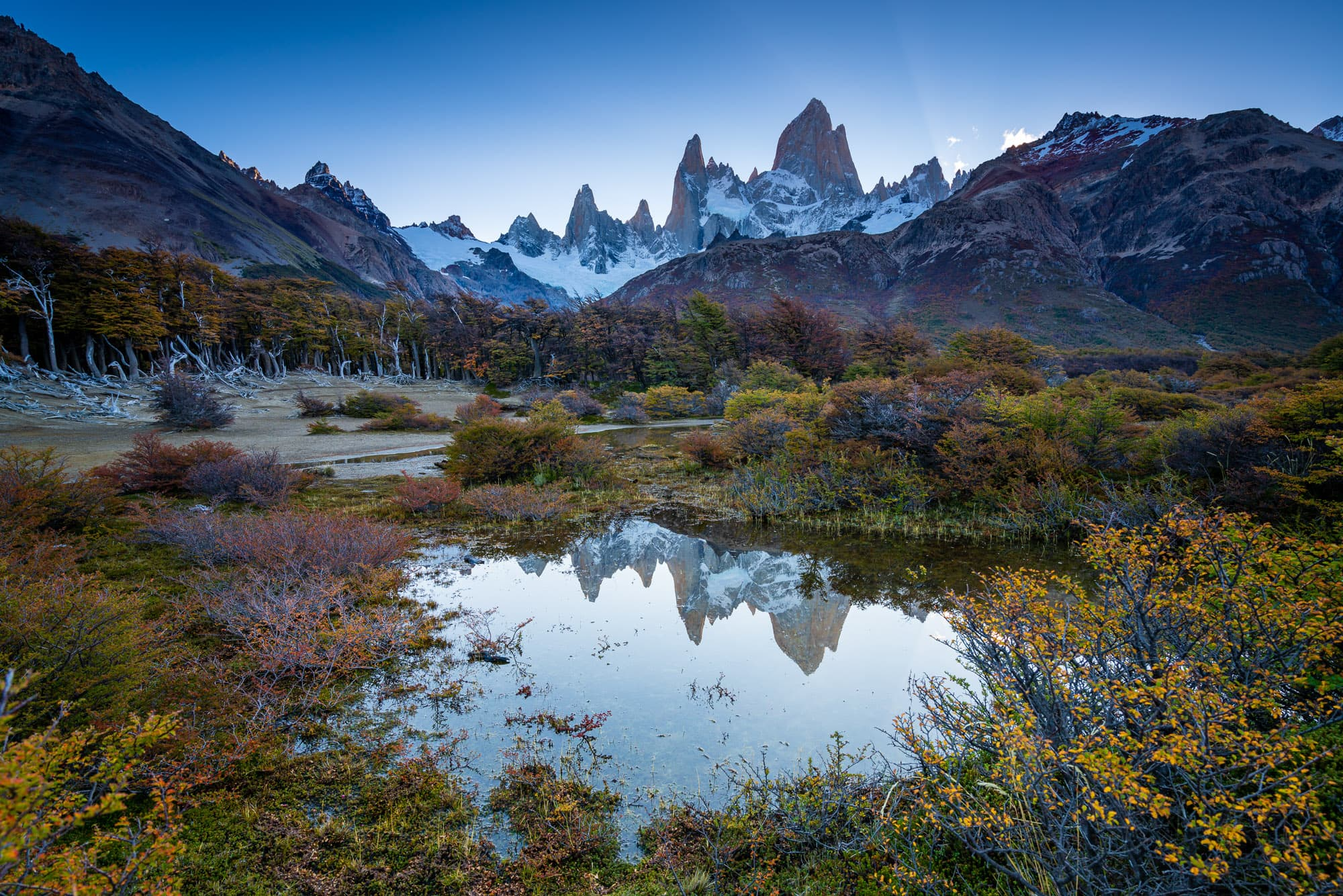 Fitz Roy in autumn, Los Glaciares National Park
