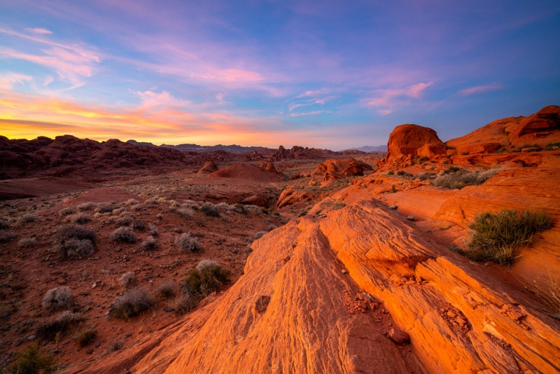 Red rocks at sunset, Valley of Fire State Park