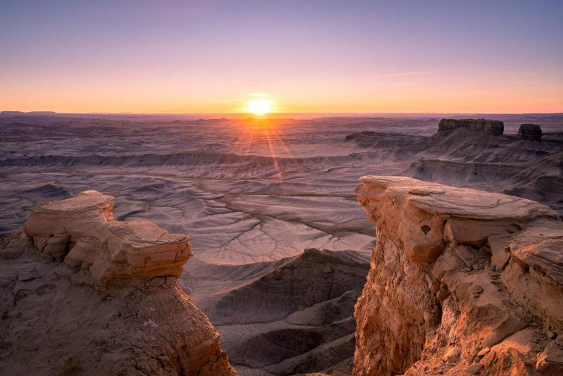 Skyline Rim Overlook at sunrise, Utah