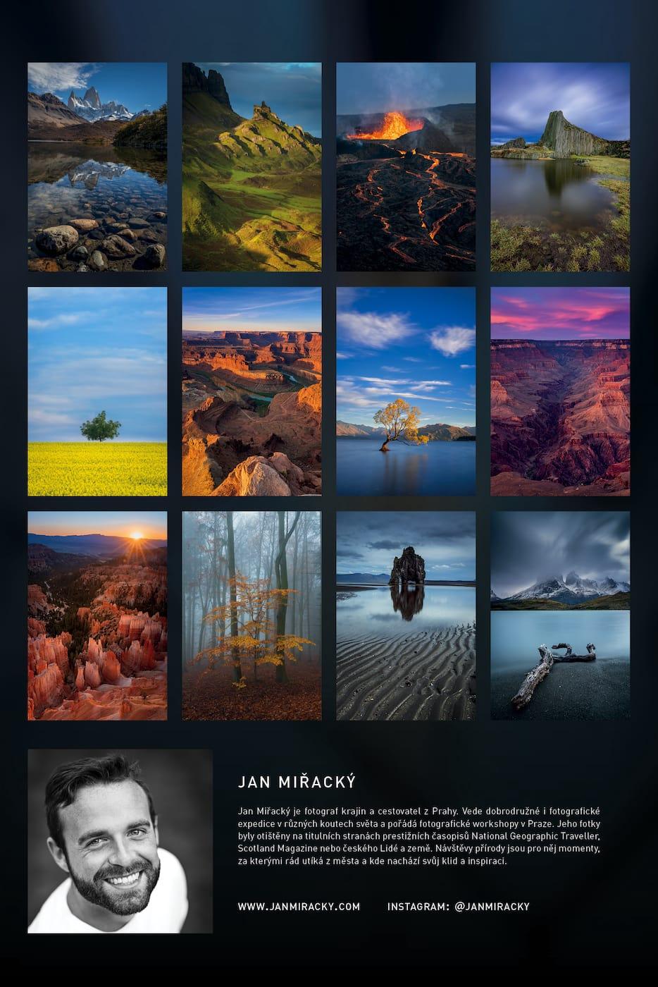 Back of the Landscape photography calendar by Jan Miracky 2022